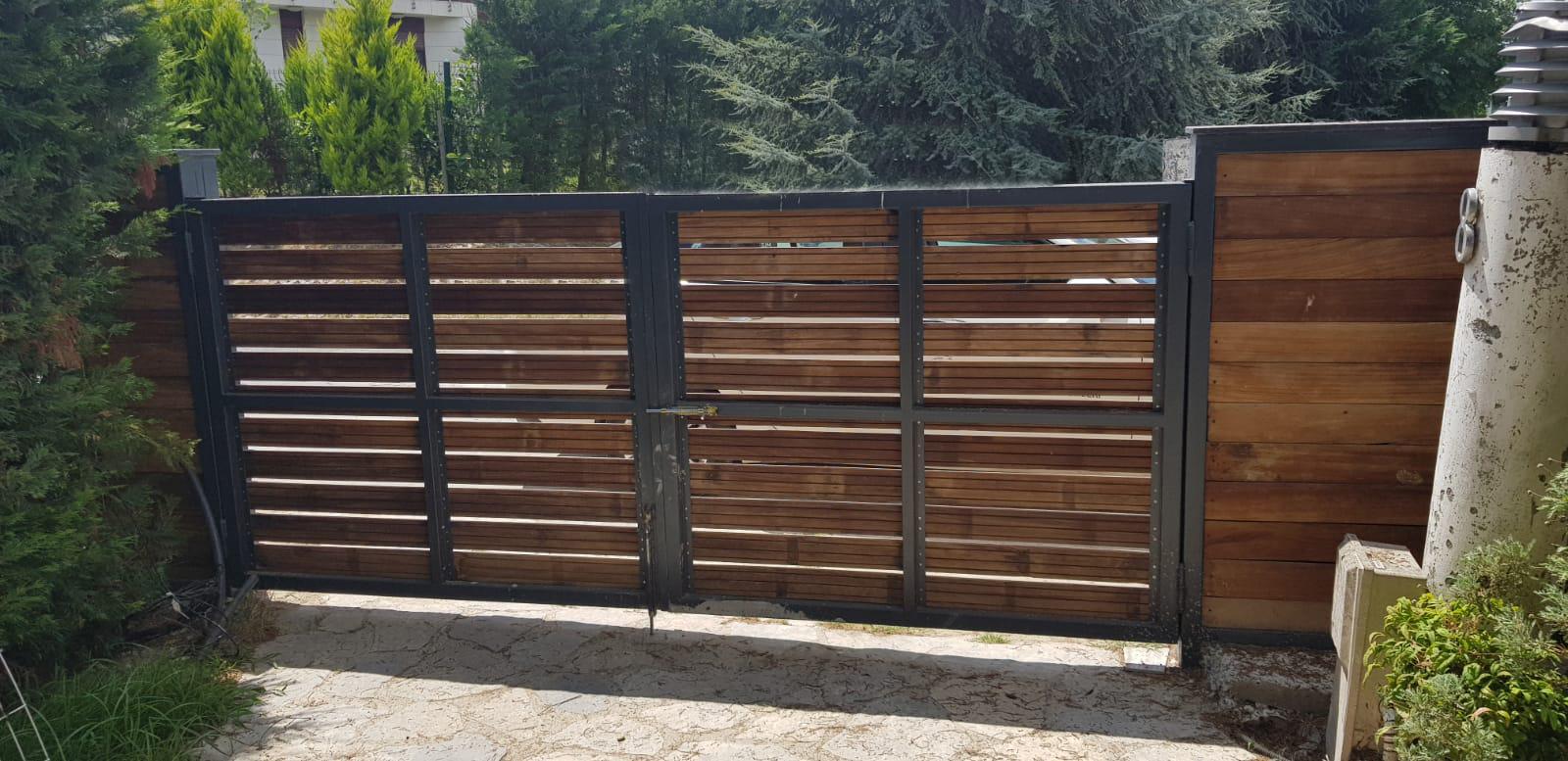 Sürgülü veya Sürgüsüz Bahçe Kapısı & Çiti
